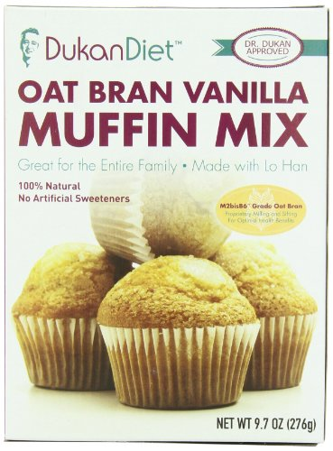 Régime Dukan Oat Bran Muffin Mix, vanille, once 9,7
