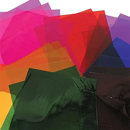 Amazon.com: A4 Colored Cellophane Craft Sheets 6 Assorted Colors ...