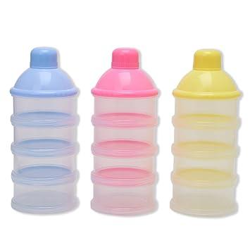 Versiegelt Cuigu 4 Schicht Milchpulver-Beh/älter 1 St/ück,Tragbare Formel F/ür Die Aufbewahrung Von Lebensmitteln