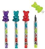 Raymond Geddes Scented Gummy Bear Mechanical Pencil Lead Refill, 24 Pack (70016)