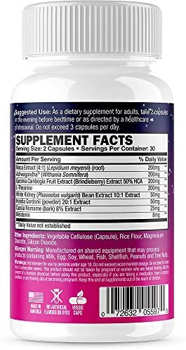 Alpha Woman PM - Nighttime Relaxation Formula - Relieve Stress, Reduce Food Cravings, Promote Healthy Libido - Vegan & Keto Safe -60 Capsules 6