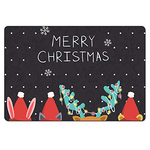 chaqlin X-mas Personalized Indoor/Front Door/Bathroom Mats Rubber Non Slip (Xmas Mats Door)