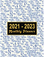 2021-2023 Monthly Planner: large see it bigger 3 year planner 2021-2023   Schedule Organizer - Agenda Plans For The Next Three Years, 36 Months Calendar with holidays, Appointment Notebook Large Size (8.5x11,Jan 2021 to Dec 2023) Flower Design for women