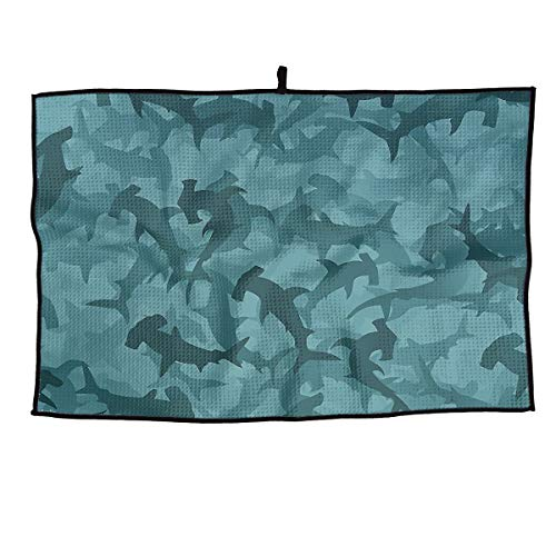 LETI LISW Golf Towel Camo Hammerhead Sharks Fitness Towel for Chill Ice Fitness Biking Hiking Pilates & -