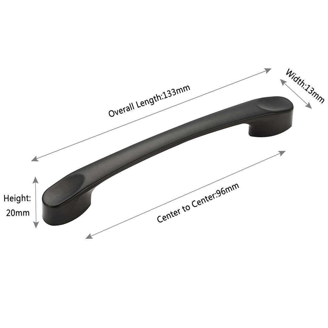 Center to Center 5in 752-128 128mm Autoly 6 Pack Bar Cabinet Pull Black Drawer Handle Modern Hardware for Kitchen Bathroom Cabinets Cupboard