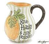 Inspirational Pumpkin Design Water/Tea Pitcher Beautiful Autumn/Fall Serveware