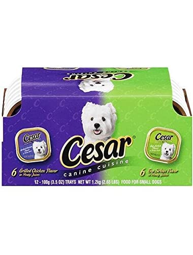 Cesar Classics Variety Pack, includes 6 Top Sirloin Beef and 6 Grilled Chicken Variety (12 Pack, 3.5 oz each)
