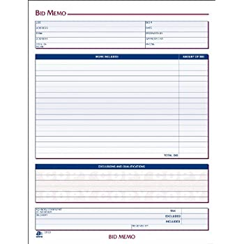 AmazonCom  Adams Bid Memos  X  Inches White  Sheets