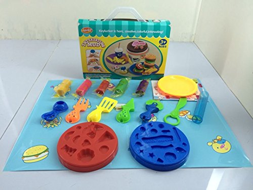 Birthday Cake Play Dough with Tools Set for Kids Gift