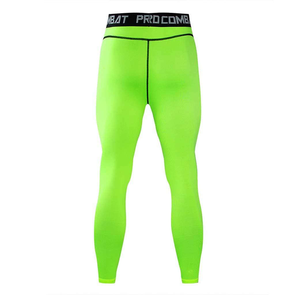 Mens Long Sleeve T-Shirt Pants Suit Fitness Fast Drying Elastic Jogging Athletic Sports Set OCEAN-STORE