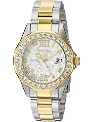 Invicta Womens Disney Limited Edition Quartz Stainless Steel Casual Watch, Color:Two Tone (Model: 22871)