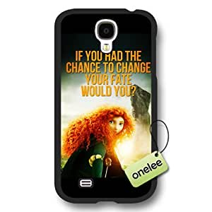 Disney Brave Princess Merida Frosted Phone Case & Cover for Samsung Galaxy S4 - Black
