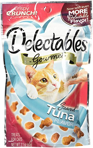 Delectables Gourmet Crunchy Cat Treats - Seared Tuna