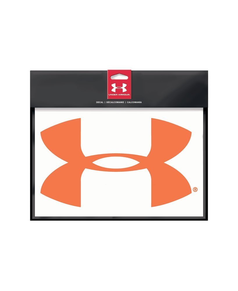 98e74bc58 Amazon.com: Under Armour UA Big Logo Decal - 12 Inch One Size Fits All  Blaze Orange: Sports & Outdoors