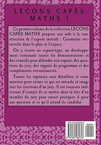 Géométrie vectorielle 2018-10 (LEÇONS CAPES MATHS) (Volume 1) (French Edition): Dany-Jack Mercier: 9781985082618: Amazon.com: Books