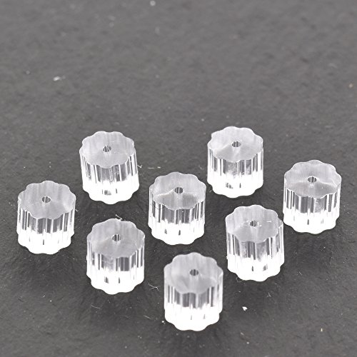 20xNamgiy Rubber Earring Backs Stud Backs Plastic Earring Clasps Safety Backs Clutch for Jewellery-Making Accessories 0.12cm
