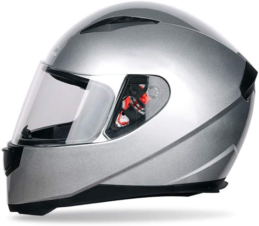 Casco Moto Universale Integrale Uomo Donna Inverno Termico Antiappannamento Casco Moto Casco Protettivo Colorato Off Road 53-62cm
