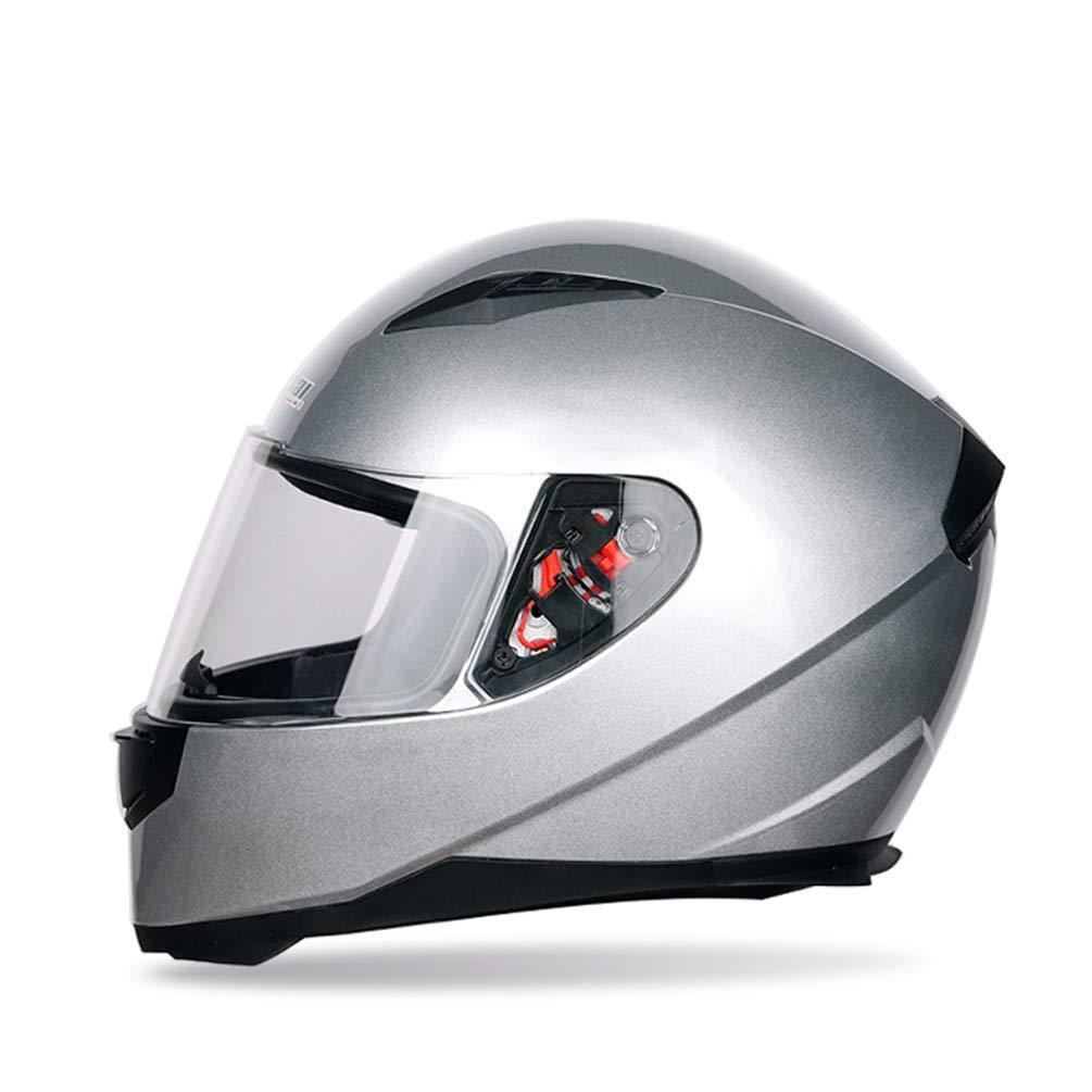 Farbe Beschichtet Sicherheit Off Road Helme 53-62 cm M/änner Frauen Universal Full Face Motorradhelm Winter Thermische Antifogging Motorradhelm