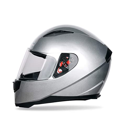 M/änner Frauen Universal Full Face Motorradhelm Winter Thermische Antifogging Motorradhelm Farbe Beschichtet Sicherheit Off Road Helme 53-62 cm