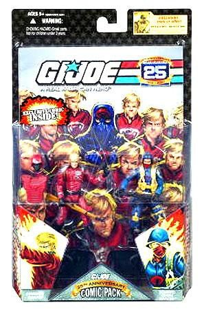 G.I. JOE 25th Anniversary Comic Pack: CRIMSON GUARD and SCARRED COBRA (Gi Joe Loose Figure)
