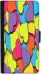 Snoogg Wallet Case Flip Case Sleeve Folio Book Cover with Credit Card Slots, Cash Pocket, Stand Holder, Magnetic Closure Black For LEAGOO ALFA 1