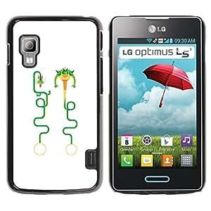iKiki Tech / Estuche rígido - Dragon Funny Art Character - LG Optimus L5 II Dual E455 E460