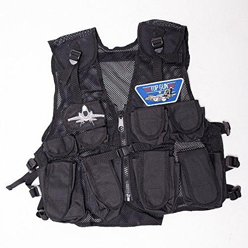 Kids Top Gun Jet Pilots Stealth Combat Vest, Fits Ages 5-12 Yrs