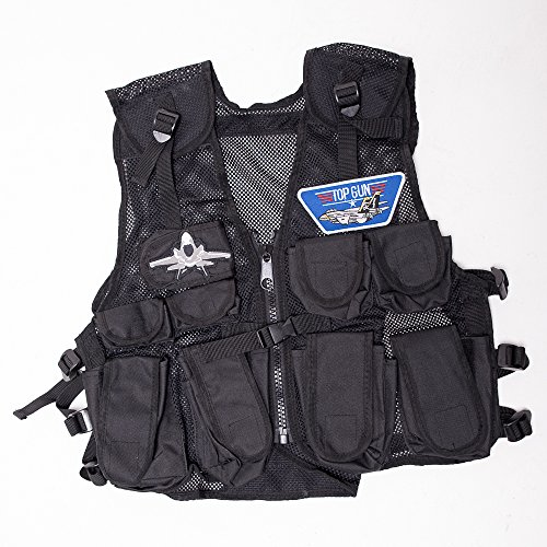 Kids Top Gun Jet Pilots Stealth Combat Vest, Fits Ages 5-12 Yrs -