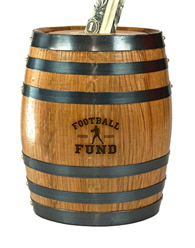 Mini Oak Barrel Piggy Bank Fund for Various Sports (Football Fund) by THOUSAND OAKS BARREL (Image #4)