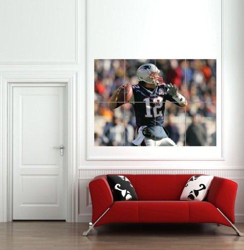 Tom Brady Pictures (TOM BRADY NFL GIANT WALL MURAL POSTER ART PRINT B639)