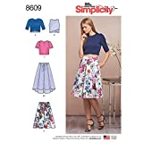 Simplicity US8609DS Women's Knit Tops and Skirt