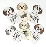MINI Size Shih-tzu Dog 2018 Die-cut Desktop Calendar