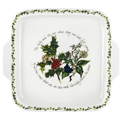 Ivy Chip (Portmeirion The Holly & The Ivy Dessert Dish Square Handled)