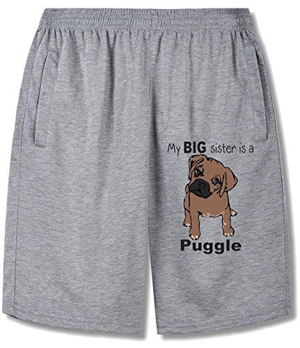 (Eagle u2 Man's My Big Sister Is A Puggle running pants color name)