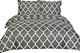 Utopia Bedding Printed Duvet Set - King Grey (King, Grey)