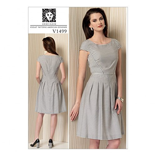 Vogue Ladies Easy Sewing Pattern 1499 Cap Sleeve, Pleated Skirt Dress (Vogue Cap)