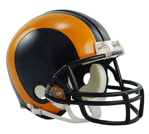 Nfl Throwback Football Helmet (Riddell St. Louis Rams / Los Angeles Rams Mini Throwback Helmet)