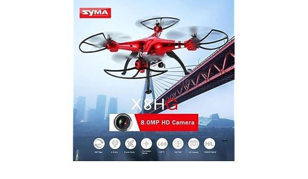 Syma x8hg RC Quadcopter Drone 2,4 g 8.0 MP cámara barómetro altura ...