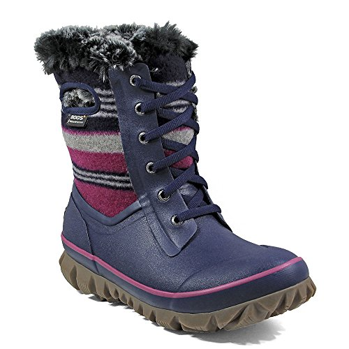 Blue Dark Arcata Women's Multi Boot Stripe Waterproof Winter Bogs cFf0ygKMK