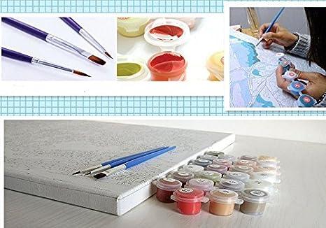 Basteln & Kreativität Malen nach Zahlen 40 x 50 cm mit Holzrahmen Komplettset  GX3235