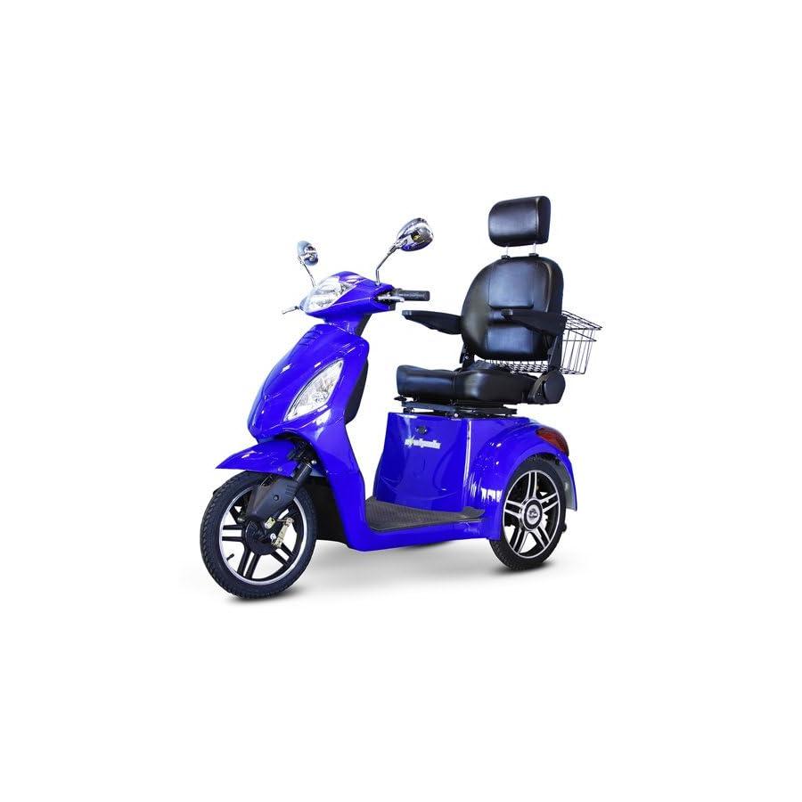 EWheels (EW 36) 3 Wheel Mobility Scooter, Royal Blue BMC EWH EW 36B