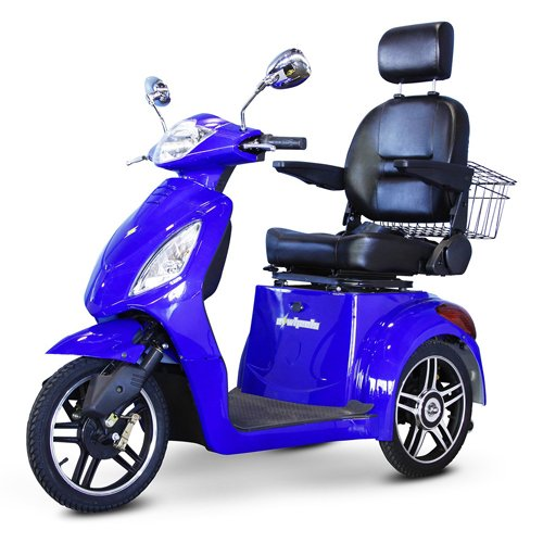 EWheels (EW-36) 3-Wheel Mobility Scooter, Royal Blue - BM...