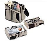 Baby Cot and Change Table OPDENK 3 in 1 Baby Diaper Bag - Travel Bassinet Multi-purpose Tote Bag Bed Nappy Infant Carrycot Crib Cot Nursery Portable Change Table For Boy Girl Newborn , Cream