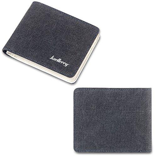 Nero Tasche Wallet Di Portafogli Marrone Portafoglio Carte Portamonete A Estremamente Fandare Piccolo Tela Credito Bifold vCxOwgn