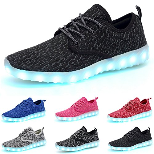 COCIFER Kids Boys Girls Breathable LED Light up Shoes Flashing Sneakers