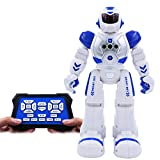 Conzy Remote Control Robot for Kids Smart RC Robot Toys Electronics Fighting Robotic with Gesture Sense,Singing Dancing Speaking Sliding Programmable Mode, Gift for Boys and Girls 3 Years Up