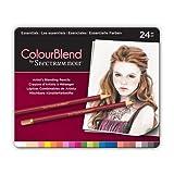 ColourBlend by Spectrum Noir New 24 Piece Pencil Tin, Essentials
