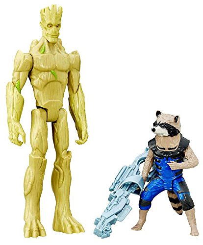 Marvel Guardians of the Galaxy Titan Hero 2 Pack Rocket Raccoon and Groot Exclusive Figure Set