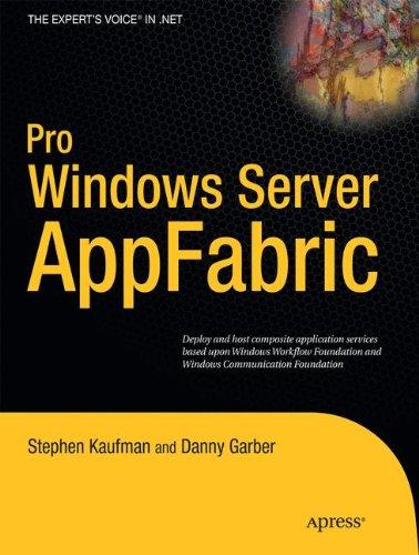 Pro Windows Server: AppFabric by Brand: Apress