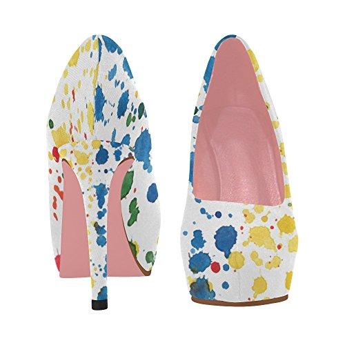 Di Scarpe Fiori Donne Color4 Cuneo Di Fragola Modello Colorati Pompa Di Alto Tacco Interestprint Fiori Ciliegio 40qwUqtFP